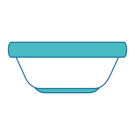 キッチン プラスチック ボウル アイコン ベクトル イラスト デザイン