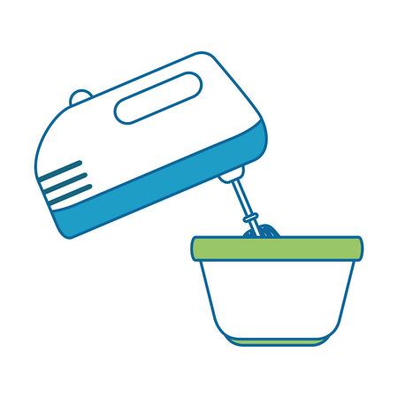 mixer appliance with bowl vector illustration design Ilustração