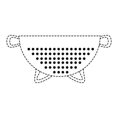 metallic strainer isolated icon vector illustration design Illustration
