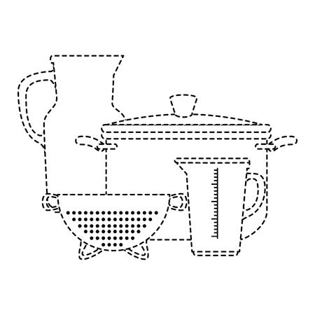 부엌 용기 벡터 일러스트 디자인의 집합 스톡 콘텐츠 - 88209553