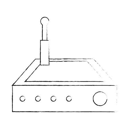 라우터 wifi 격리 된 아이콘 벡터 일러스트 레이 션 디자인 스톡 콘텐츠 - 88210325