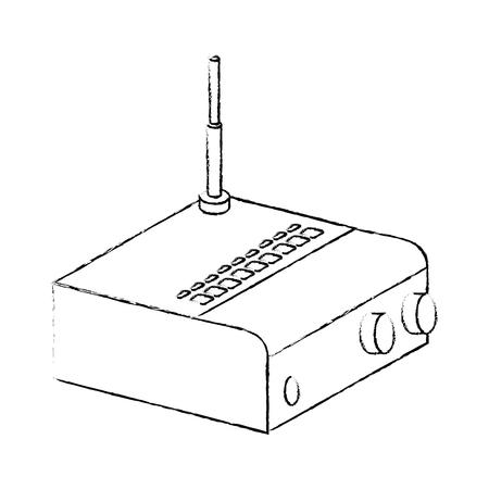 Routeur wifi isolé icône illustration vectorielle conception Banque d'images - 88210686