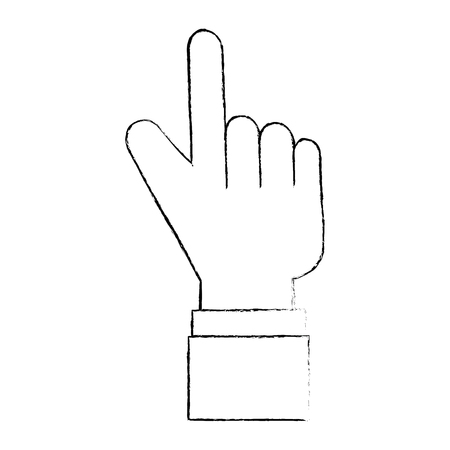 Puntero a mano índice aislado icono vector ilustración diseño Foto de archivo - 88210747