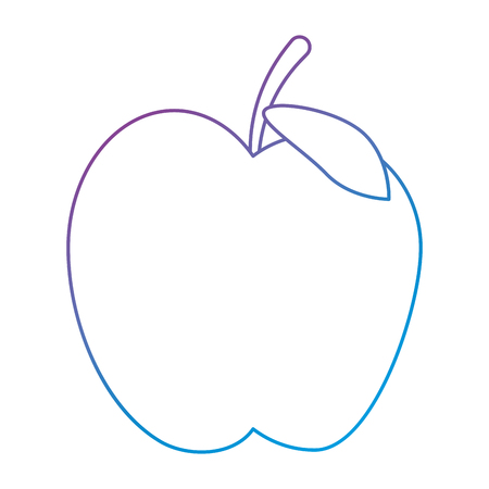 apple fresh fruit icon vector illustration design Ilustração