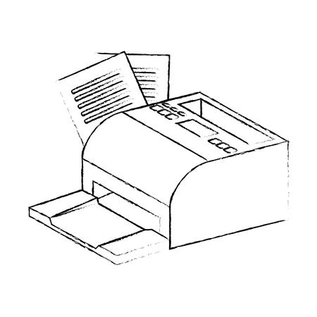 printed machine: receipts printer pos icon vector illustration design