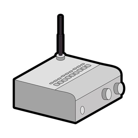 Routeur wifi isolé icône vector illustration design Banque d'images - 88210794