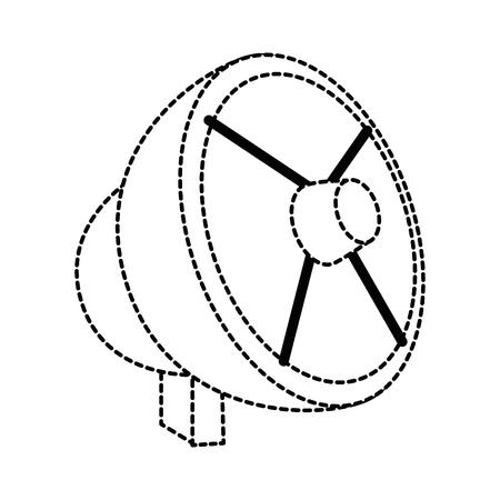 Antenne satellite isolée icône du design d & # 39 ; illustration vectorielle Banque d'images - 88210802
