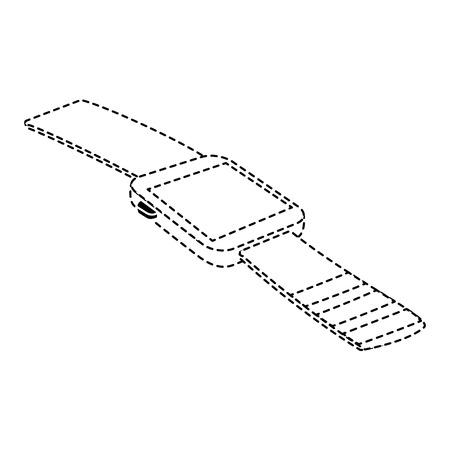 wristwatch clock isolated icon vector illustration design Illusztráció