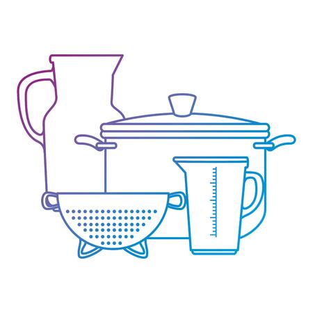 キッチン コンテナー ベクトル イラスト デザインのセット