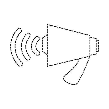 megaphone audio isolated icon vector illustration design