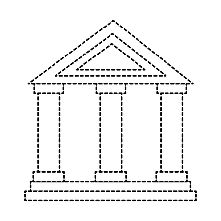 building with columns icon vector illustration design Ilustrace