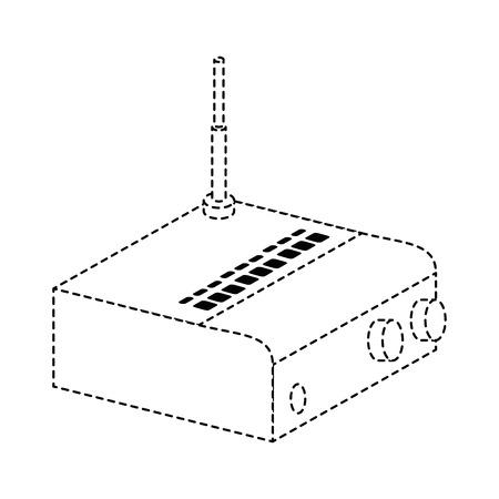 Routeur wifi isolé icône illustration vectorielle conception Banque d'images - 88210862