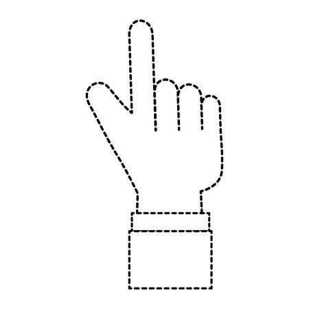 Puntero índice mano aislado icono vector ilustración diseño Foto de archivo - 88210917