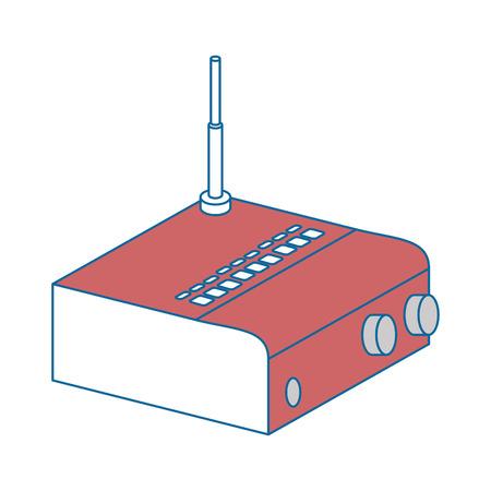 ルータの wifi アイコン ベクトル イラスト デザインを分離しました。