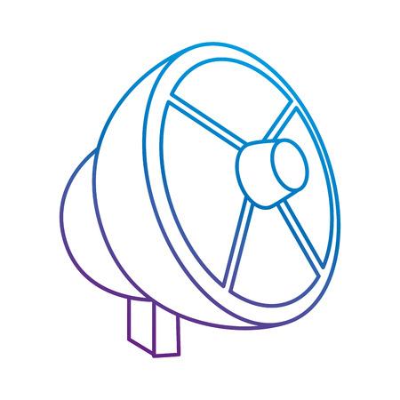 위성 안테나 격리 된 아이콘 벡터 일러스트 레이 션 디자인