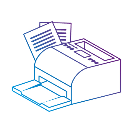 receipts printer pos icon vector illustration design