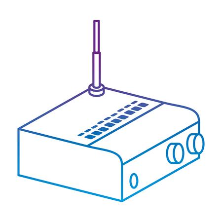 Routeur wifi isolé icône illustration vectorielle conception Banque d'images - 88211009