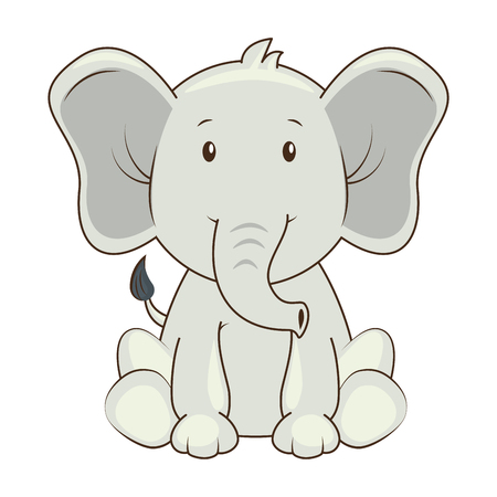 cute elephant character icon vector illustration design Фото со стока - 88211042
