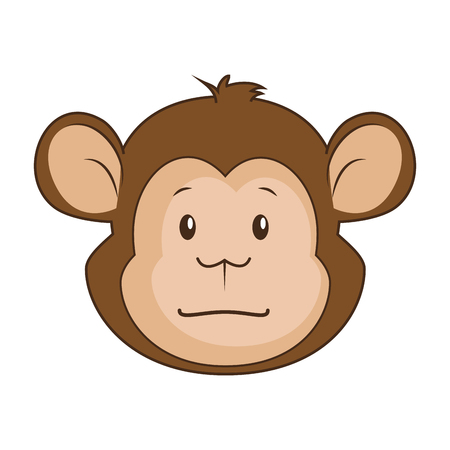 Niedlichen Affe Charakter Symbol Vektor-Illustration Design Standard-Bild - 88211051