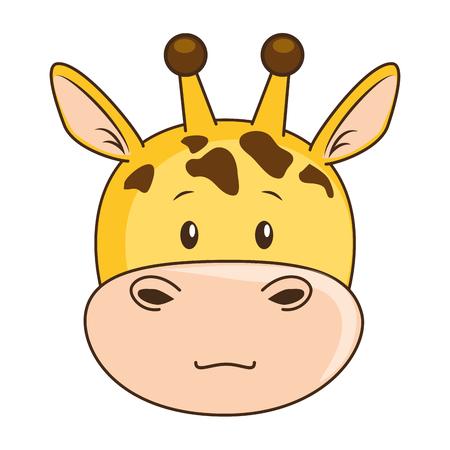 Carácter lindo de la jirafa de la ilustración del vector del icono del diseño Foto de archivo - 88211052