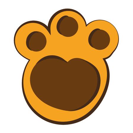 feline paw footprint isolated icon vector illustration design Ilustração