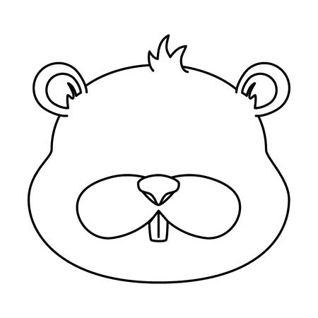 cute beaver character icon vector illustration design