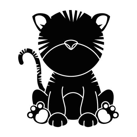 Süße Tiger Charakter Symbol Vektor Illustration Design Standard-Bild - 88211220