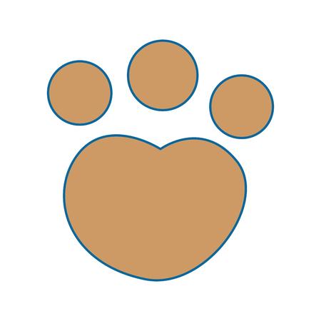 猫の前足の足跡アイコン ベクトル イラスト デザインを分離しました。  イラスト・ベクター素材