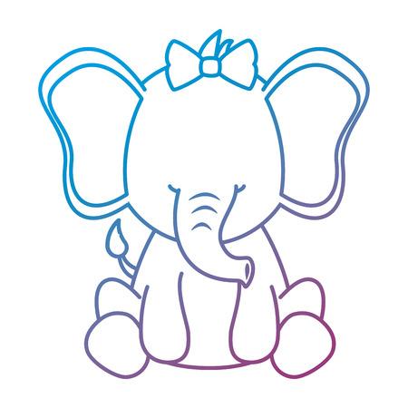 cute female elephant character icon vector illustration design