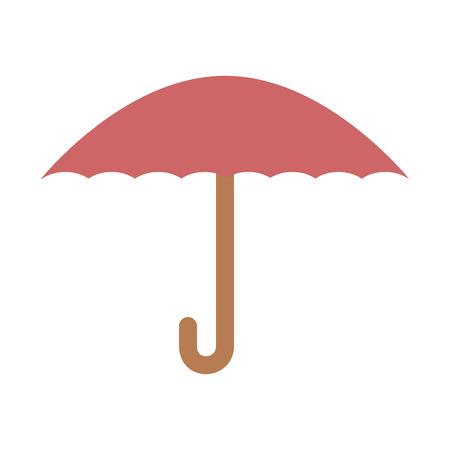 Progettazione dell'illustrazione di vettore dell'icona isolata protezione dell'ombrello Archivio Fotografico - 88211601