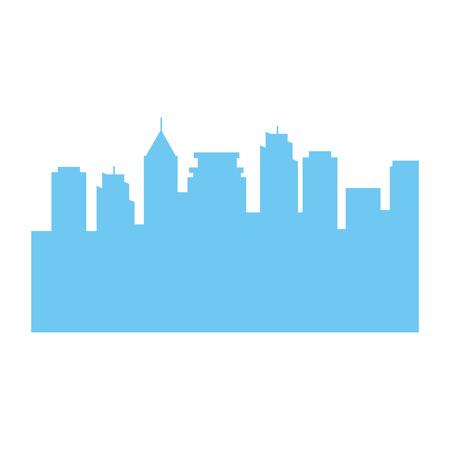 Progettazione dell'illustrazione di vettore dell'icona della siluetta di edifici di paesaggio urbano Archivio Fotografico - 88211891