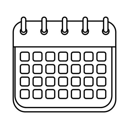 kalender herinnering geïsoleerd pictogram vector illustratie ontwerp