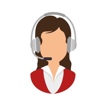 call center receptionist avatar vector illustration design
