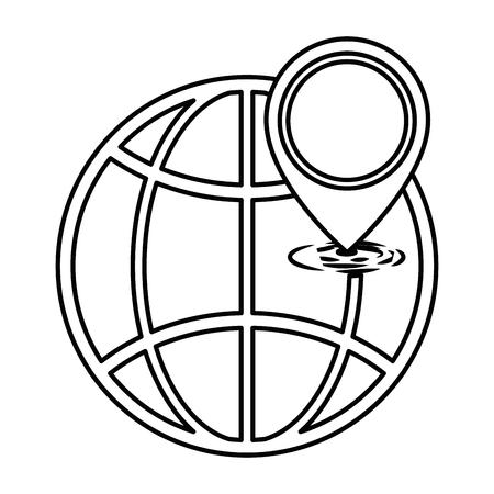 惑星球ポインター位置ベクトル イラスト デザイン  イラスト・ベクター素材