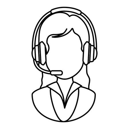 call center receptionist avatar vector illustration design Stock Vector - 88212284