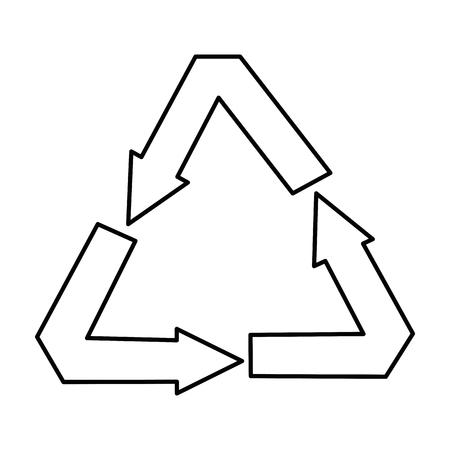 recycle arrows symbol icon vector illustration design 向量圖像