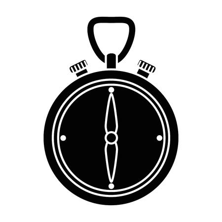 Chronomètre chronomètre isolé icône illustration vectorielle conception Banque d'images - 88212297