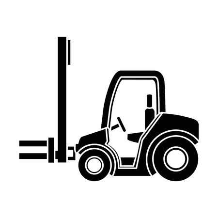cart forklift isolated icon vector illustration design