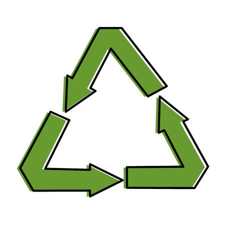 recycle arrows symbol icon vector illustration design Illustration