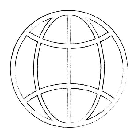 Sfera planet isolato icona illustrazione vettoriale di progettazione Archivio Fotografico - 88212440