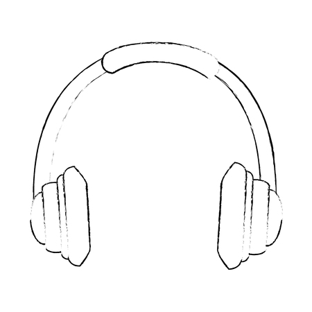 headset communication isolated icon vector illustration design Ilustração
