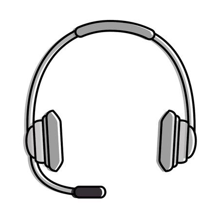 headset communication isolated icon vector illustration design Illustration