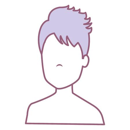 young man shirtless avatar character vector illustration design Stock Vector - 88226800
