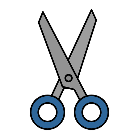 scissors cut isolated icon vector illustration design