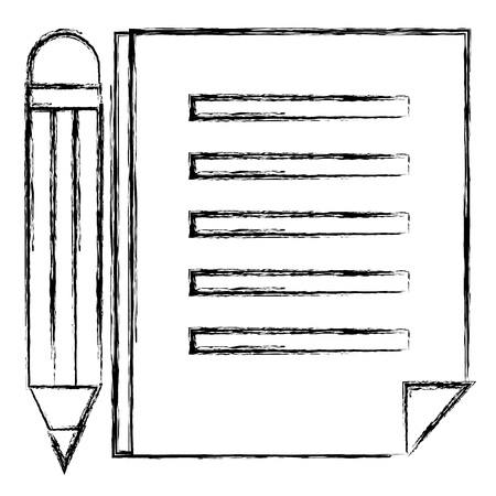Paper document with pencil.