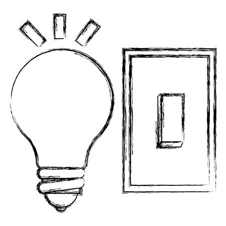 ampoule avec interrupteur vector illustration design