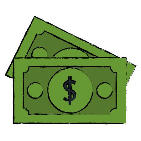 bills money isolated icon vector illustration design