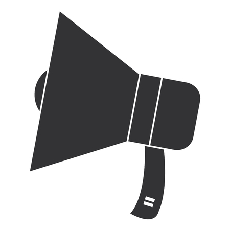 megaphone sound isolated icon vector illustration design