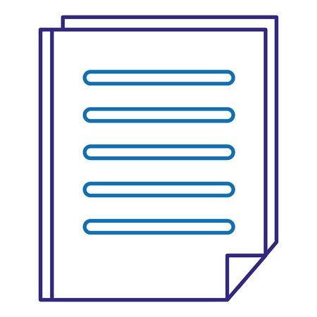 Papierdokument isoliert Symbol Vektor-Illustration , Design , Standard-Bild - 88232234