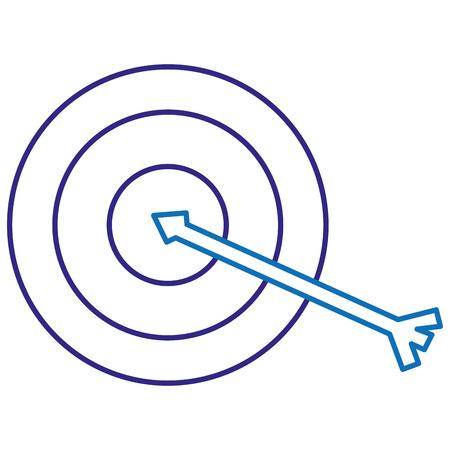 doel met pijl geïsoleerd pictogram vector illustratieontwerp